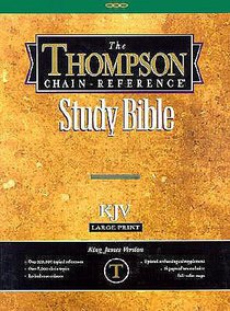KJV Thompson Chain Reference Large Print Burgundy (Red Letter Edition)