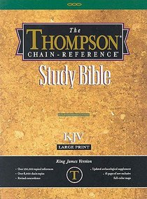 KJV Thompson Chain Reference Large Print Black Index