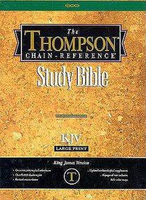 KJV Thompson Chain Reference Large Print Black Index (Red Letter Edition)