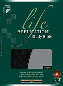 NLT Life Application Study Bible Black/Grey Tutone (Red Letter Edition)