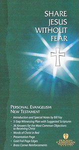 HCSB Share Jesus Without Fear Evangelism New Testament (Red Letter Edition)