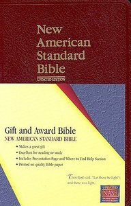 NASB Updated Edition Burgundy Gift & Award