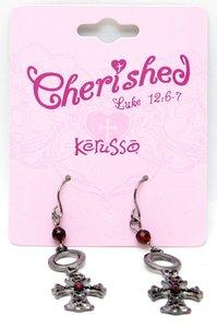 Cherished: Victorian Cross Earrings