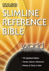 NASB Slimline Reference Blue Indexed