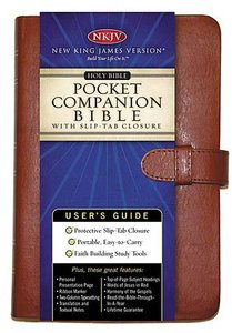 NKJV Pocket Companion Bible British Tan With Slip-Tab