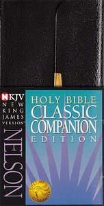 NKJV Checkbook Bible Snap Flap Black