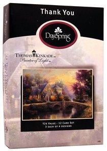"Boxed Cards Thank You: Thomas Kinkade ""Painter of Light"""
