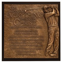 Golfer I Can Do Everything Moments of Faith Plaque