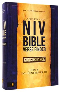 NIV Bible Verse Finder Concordance
