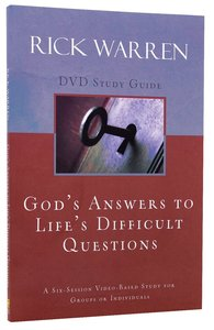 Gods Answers to Lifes Difficult Questions (Study Guide)
