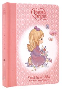 NKJV Precious Moments Holy Bible Pink (Red Letter Edition) (Small Hands Edition)