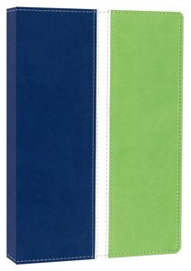 NIV Busy Moms Bible Blueberry/Spring Green Duo-Tone (Red Letter Edition)