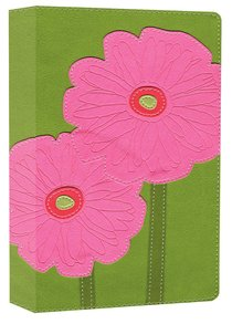 NIV Thinline Bloom Bible Gerbera Daisies Duo-Tone (Red Letter Edition)