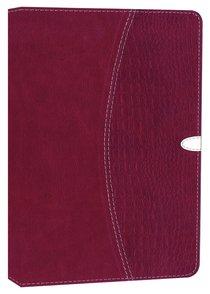 NIV Thinline Bible Razzleberry Duo-Tone (Red Letter Edition)