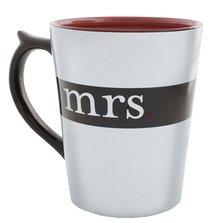 Classic Ceramic Mug: Mrs, (Song of Solomon 3:4 NIV) (White/black)