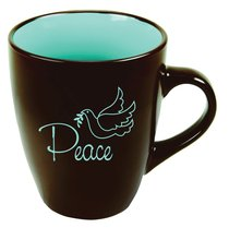 Inspirational Mug: Peace Chocolate With Blue