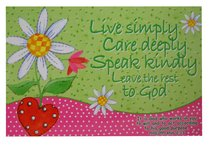 Poster Small: Live Simply