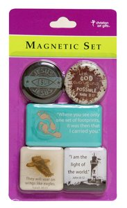 Magnetic Set of 5 Magnets: Jesus