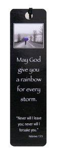 Bookmark Black & White: Blue Umbrella, Heb 13:5
