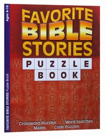 Puzzle Book: Favorite Bible Stories (Ages 6-10, Reproducible)