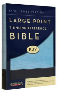 KJV Large Print Thinline Reference Bible Chocolate/Blue (Red Letter Edition)