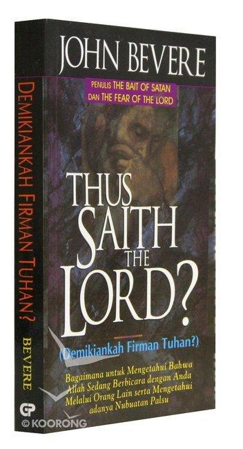 Thus Saith The Lord John Bevere Pdf