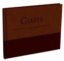 Guest Book: Large Two Tone Soft Tone Dark Brown/Brown