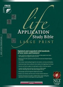 NLT Life Application Study Indexed Bible Burgundy Large Print (Red Letter Edition)