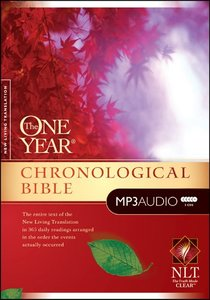 NLT MP3 Audio One Year Chronological Bible (5 Mp3s)