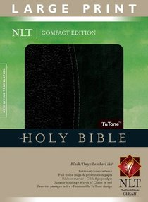 NLT Compact Large Print Bible Indexed Black Onyx (Red Letter Edition)