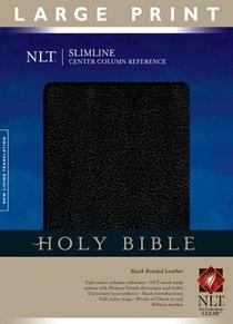 NLT Slimline Center Column Reference Large Print Black