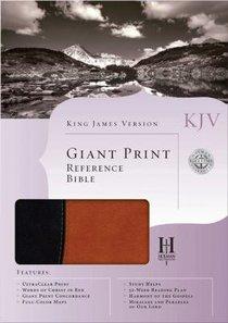KJV Reference Giant Print Black/Tan
