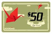 Koorong Gift Card $50.00