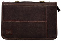 Bible Cover Aviator Leather-Look Brown Large