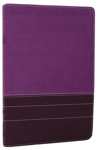NIV Large Print Thinline Bible Purple Plum Duo-Tone (Red Letter Edition)