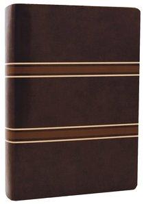 NLT Life Application Study Dark Brown/Tan Stripes Tu Tone (Red Letter Edition)