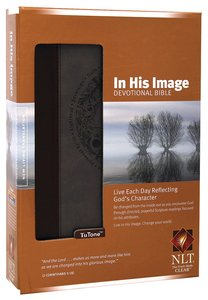 NLT in His Image Devotional Brown Dusty Blue (Black Letter Edition)