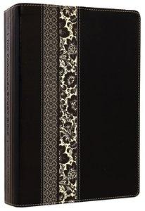 NLT Parallel Study Black/Ornate Floral (Black Letter Edition)