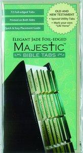 Majestic Bible Tabs Elegant Jade Foil-Edged