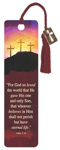 Bookmark With Tassel and Charm: For God So Loved, John 3:16