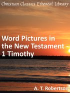 Word Pictures in the New Testament - 1 Timothy (Word Pictures In The New Testament Series)