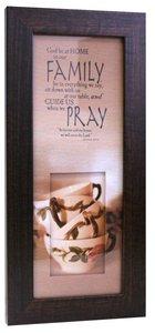 Life in Focus Mdf Framed Art: Family Pray