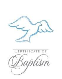 Certificate: Baptism With Envelope Blue Foil (Rom 6:3-4 KJV) (Pk 6)