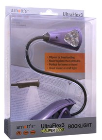 Ultraflex3 Booklight With 3 Super Leds Purple