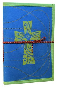 Journal Cross Blue/Green Large (Empowering The Poor Series)