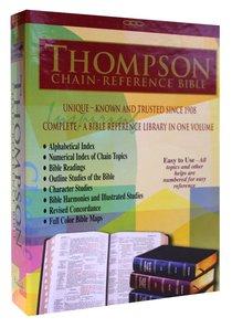 KJV Thompson Chain Reference Study Bible Burgundy