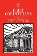 1 Corinthians (Anchor Yale Bible Commentaries Series)