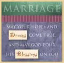 Celebrate Life Easled Magnet: Marriage