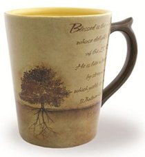 Classic Ceramic Mug: Planted Tree, (Psalm 1:1-3) (Tan/beige)
