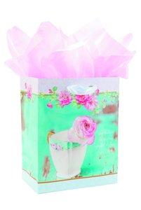 Gift Bag Medium: New Teacup (Incl Tissue And Gift Tag)